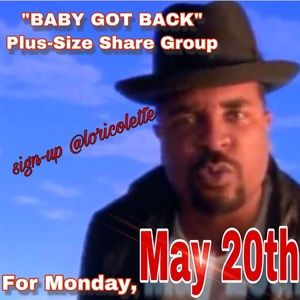 """BABY GOT BACK"" Plus-Size Share Group"